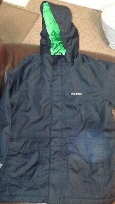 CRAGHOPPERS Boys Black Aquadry Insulated Jacket Age 11-12 Wind proof Waterproof