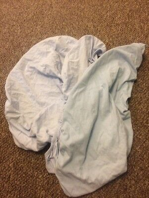 Baby Boy Blue Moses Basket Fitted Sheets