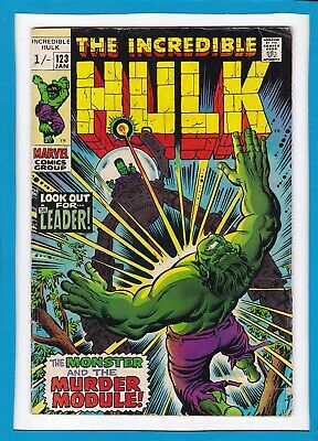 "Incredible Hulk #123_January 1970_Vg_""look Out For...the Leader""_Bronze Age Uk!"