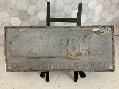 1928 Big Potato Idaho License Plate, 27-261, Low Number, Collectible, Idaho