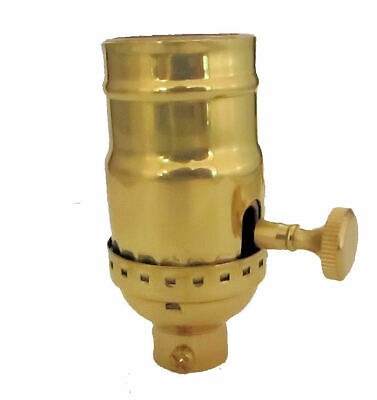 "Solid Brass Off/On Socket With 1/8 Ips Hole (3/8"")  Tr-426Xnt"