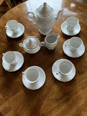 Wawel White Porcelain China Coffee/Tea Set Wav40  Made in Poland