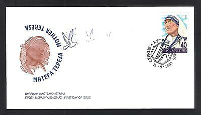 Cyprus 2002 Famous Women Medicine Mother Teresa Set Of 1V. Nice Unofficial Fdc
