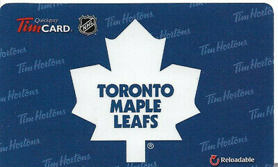 Tim Hortons Nhl Reloadable Gift Card Toronto Maple Leafs 2013