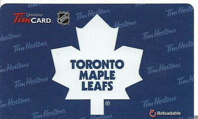 Tim Hortons Nhl Reloadable Gift Card Toronto Maple Leafs 2014