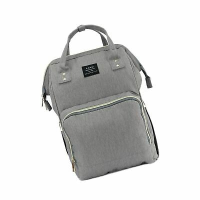 Land Baby Diaper Bag Large Capacity Mommy Backpack Baby Gray