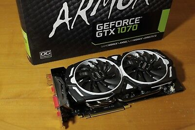 msi geforce gtx 1070 armor 8g oc drivers