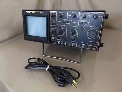Protek P-2520 Oscilloscope Scope Dual CHANNEL 20MHZ  1MV/DIV W/ TRIGGER HOLD OFF