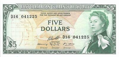 Good Ostkaribisch east Caribbean Currency Authority 1965 P-13e 1 Dollar Nd