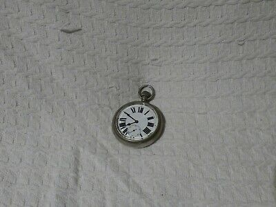 Antique Swiss Open-Faced Goliath Style 57mm Pocket Watch
