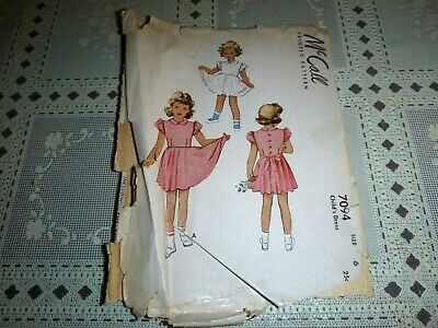 Vintage 1947 McCall pattern 7094 child's Dress in size 6