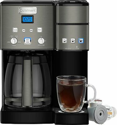 Cuisinart - Coffee Center 12-Cup Coffee Maker and Single-Serve Brewer - Black...