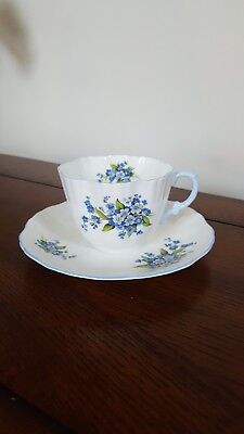 Hammersley & Co.  Tea Cup And Saucer Blue Flowers and Trim
