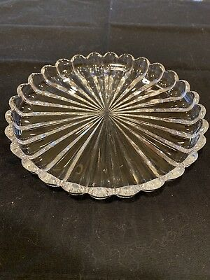 """Heisey Crystolite 7"""" Coupe Snack Plate"""