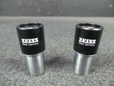 Pair of Zeiss KPL W 10x Microscope Eyepieces
