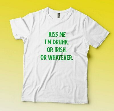 764c1ee6a52 I'M NOT IRISH Kiss Me Anyway Flowy Boxy Tee St. Patrick's Day Beer T ...