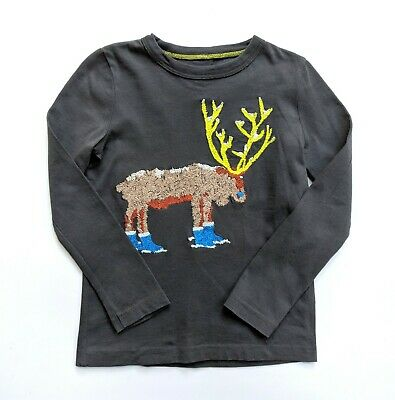 Mini Baby Boden Boys 2-3 2t 3t Moose in Boots Applique Tee Top T-Shirt AM1-67