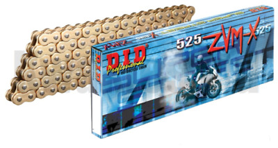 DID 525 ZVMX 114 Link Gold Motorcycle Drive Chain With Rivet Link