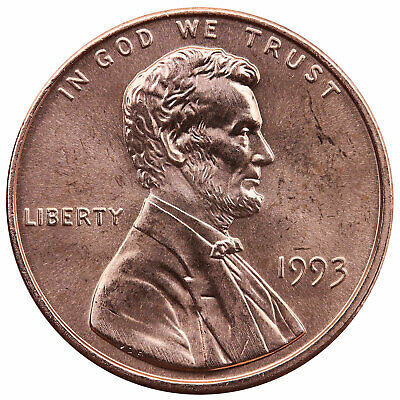 1993 Lincoln Memorial Cent Choice BU Penny US Coin