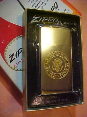Vietnam Era Presidential Seal 1975 Zippo Lighter - President Gerald Ford - MIB