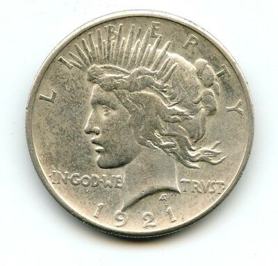 1921 Silver Peace Dollar AU THE SCARCE DATE!!! Look at photos!!