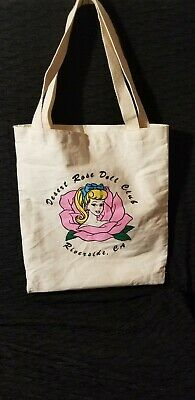 3c90b19208f2 RARE- BARBIE TOTE BAG Large Beige Canvas BARBIE Head and Rose Logo