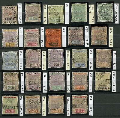 BRITISH GUIANA 1889-1903 Scott 130-147 Set Used with Shades CV$545.00