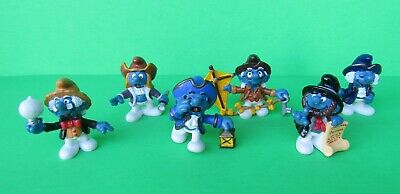Lot of 6 Vintage Historical Smurfs Figures