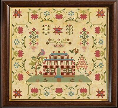 Cross Stitch Sampler Antique 1812 Dutch Reproduction Counted Chart PDF /& Print