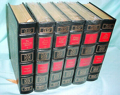 Easton Press Winston Churchill World War 2 WWII 6 Volume Leather Cover Book Set