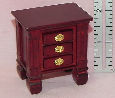 Dollhouse Miniature End Table Mahogany 1:12 Scale
