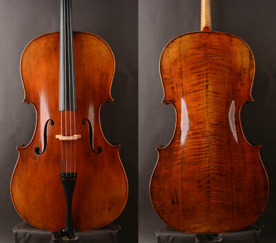 """Oil antique!A Best model """"William Forster III 1814"""" Copy cello,Strong deep tone"""