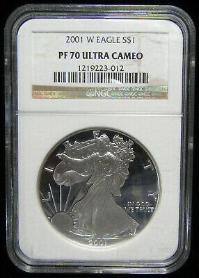 2001-W $1 Silver Eagle NGC PF70 Ultra Cameo. Registry Quality! (0119132)