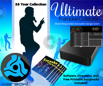 Karaoke & DJ Collection Hard Drive - Powered By Karaoki PCDJ Software