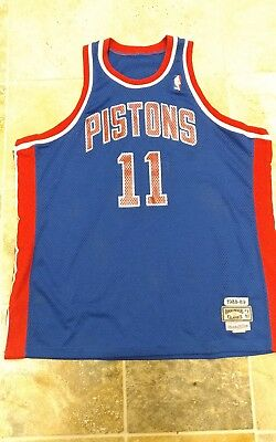 ISIAH THOMAS DETROIT Pistons Mitchell   Ness NBA 1988-1989 Authentic ... c6b565201