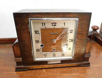 oak cased westminster chimes mantel clock