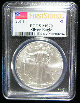 2014 Silver Eagle PCGS MS70. First Strike. (0119130)