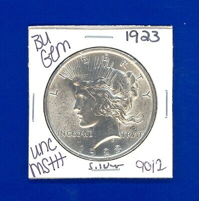 1923 P Bu Gem Peace Silver Dollar Coin#9012 $Unc/ Ms+++ Us Mint$Rare