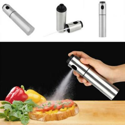 Portable Stainless Steel Pump Spray Fine Bottle Olive Oil Sprayer Kitchen Tool J