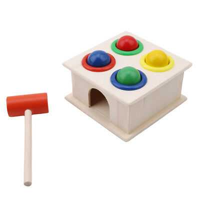 Colorful Wood Hammering Ball Children Hammer Box Early Learning Educational Toys