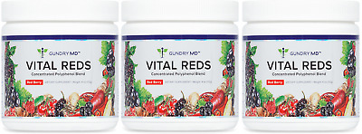 Gundry MD Vital Reds Discounted 3 PACK (x3 Tubs) - Red Berry Dietary Supplement