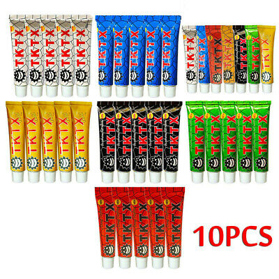 1/10Pcs TKTX 40% Numbing Tattoo Anesthetic Fast Skin Cream Semi Permanent Hot