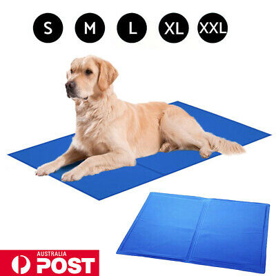 Sale! Pet Cool Gel Mat Dog Cat Bed Non-Toxic Cooling Dog Summer Pads 5 Sizes AUS