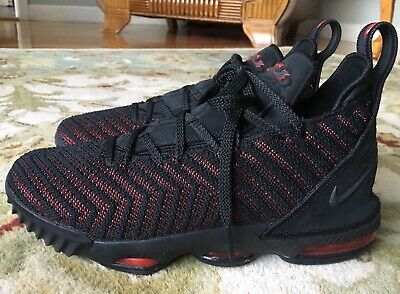 a1549061fd4 Nike LeBron XVI 16 Fresh Bred Size 6Y boys Womens 8 Red Black Basketball  Shoes