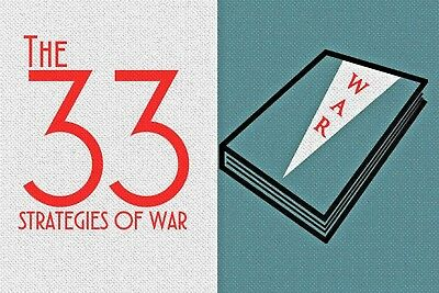 The 33 Strategies of War by Robert Greene 48 Laws of Power RARE HARDCOVER  VG