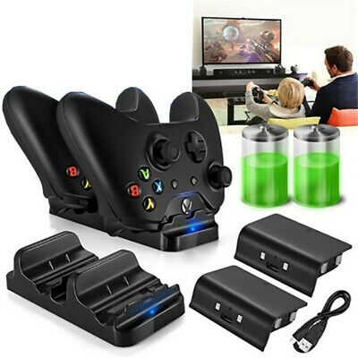 XBOX ONE Dual Charging Dock Station Controller Charger/ 2 Extra Battery Packs
