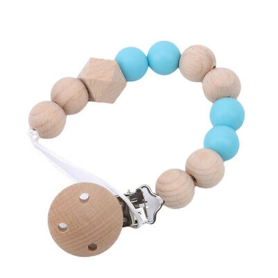 Pacifier Clip Baby Holder Nipple Strap Chain Soother Infant Teething Beads jian
