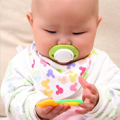 Baby Orthodontic Pacifier Soother Dummy Round Flat Head Thickened Nipple