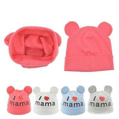 Baby Hat Knitted Warm Cotton Toddler Beanie Baby Cap I Love Mama Printing New J
