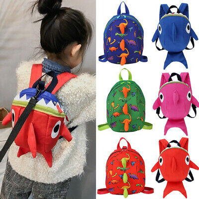 New Kids Baby Safety Harness Backpack Leash Toddler Anti-lost Dinosaur Shark Bag